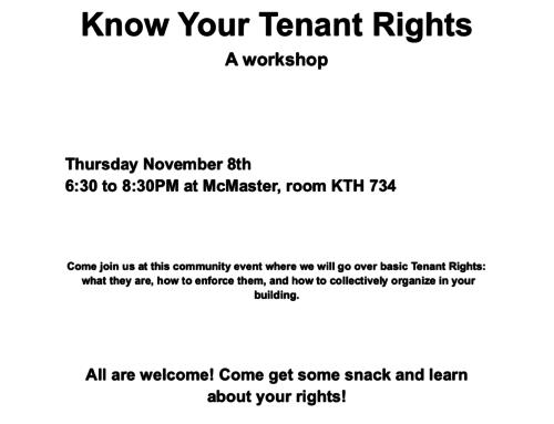 Tenant Rights Workshop