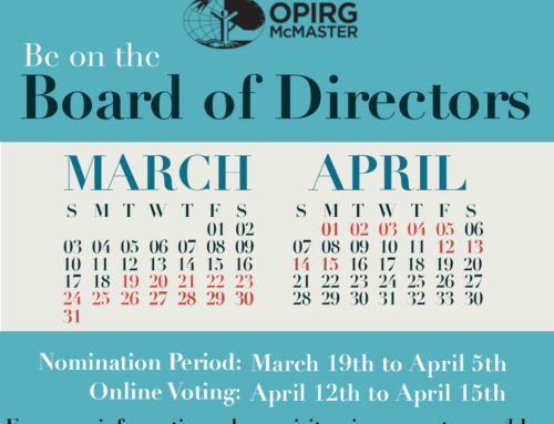 OPIRG Board of Directors Nomination Period