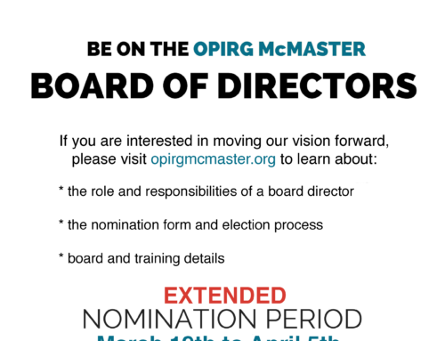 OPIRG Board of Directors Nomination Period Extended