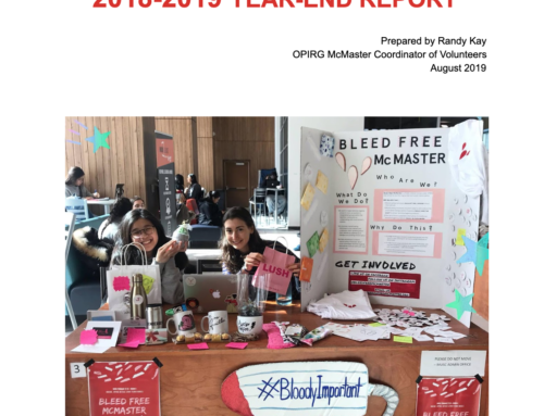 2018-2019 Year End Report: Volunteers and Public Interest Projects