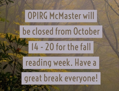 Closed for reading week October 14 – 20