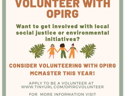 Volunteer with OPIRG!