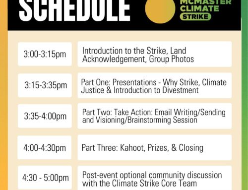 McMaster Divest Climate Strike!