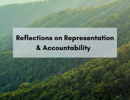 Reflections on representation and accountability